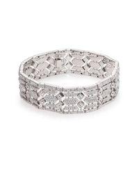 Adriana Orsini - Metallic Pave Crystal Wide Line Bracelet - Lyst