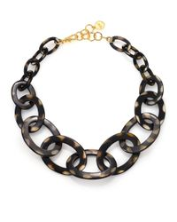 Nest | Brown Graduated Spotted Horn Link Necklace | Lyst