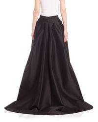 Carolina Herrera Black Hi-lo Ball Gown Skirt