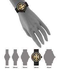 Tory Burch - Reva Watch, Black Leather/black, 36 Mm - Lyst
