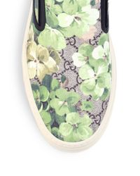 Gucci - Multicolor Dublin Bloom Slip-on Sneakers for Men - Lyst