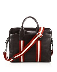 Bally - Brown Leather Business Bag for Men - Lyst