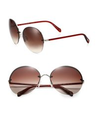 Oliver Peoples | Brown Jorie 62mm Rimless Oversized Round Sunglasses | Lyst