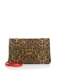 Christian Louboutin | Brown Posh Leopard Print Leather Crossbody Bag | Lyst