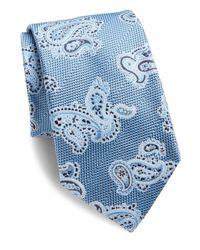 Eton of Sweden | Blue Paisley Silk Tie for Men | Lyst