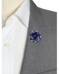 Hook + Albert - Blue Tonal Dahlia Lapel Pin - Lyst