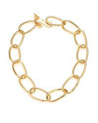 Tomtom | Metallic Chevron Prix Pyramid Chain Necklace | Lyst