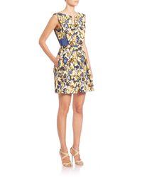 Alberta Ferretti - Multicolor Floral-print Dress - Lyst