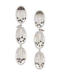 Coomi | Metallic Diamond & Sterling Silver Drop Earrings | Lyst