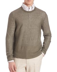 Eidos | Blue Cotton & Cashmere Basic Crewneck Sweater for Men | Lyst