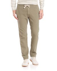 Eidos | Green Washed Army Drawstring Pants for Men | Lyst