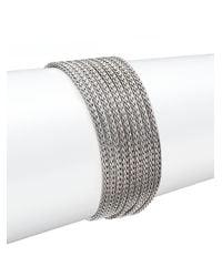 John Hardy   Metallic Classic Chain Sterling Silver Multi-row Bracelet   Lyst