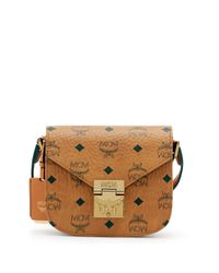 MCM | Brown Patricia Visetos Coated Canvas Crossbody Bag | Lyst