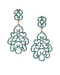 Kenneth Jay Lane | Green Resin Clip-on Chandelier Earrings | Lyst