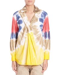 DSquared² - Multicolor Cotton Tie-dye Shirt - Lyst