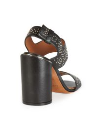 Givenchy - Black Carpet-pattern Studded Leather Sandals - Lyst