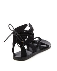 Ancient Greek Sandals - Black Fteroti Wing Suede Gladiator Sandals - Lyst