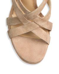 Diane von Furstenberg - Natural Siracusa Xx Suede Sandals - Lyst