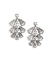 Erickson Beamon - Metallic Frequent Flyer Crystal Leaf Earrings - Lyst