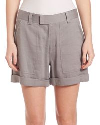 Vince - Gray Rolled Shorts - Lyst