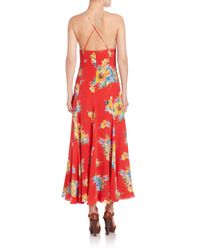 Polo Ralph Lauren - Multicolor Silk Floral Maxi Dress - Lyst