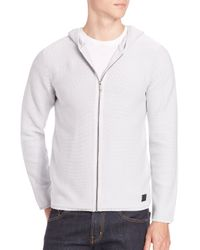 Strellson - Gray Hooded Jacket for Men - Lyst