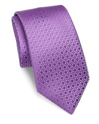 Charvet   Purple Small Pattern Silk Tie for Men   Lyst