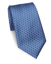 Charvet   Blue Small Pattern Silk Tie for Men   Lyst