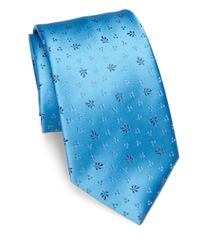 Charvet | Blue Small Micro Pattern Silk Tie for Men | Lyst