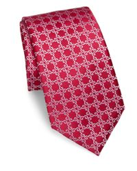 Charvet | Red Large Pattern Silk Tie for Men | Lyst