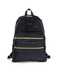 Marc Jacobs Blue Nylon Backpack