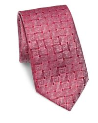 Charvet | Pink Square Small Pattern Silk Tie for Men | Lyst