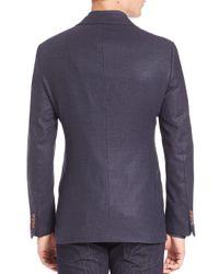 Giorgio Armani Black Woven Textured Sportscoat for men