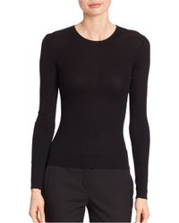 Michael Kors | Purple Ribbed Cashmere Crewneck Sweater | Lyst