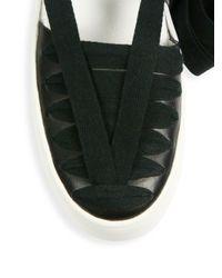 10 Crosby Derek Lam - Black Leon Huarache Leather Sandals - Lyst