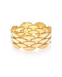 Roberto Coin   Metallic Retro 18k Yellow Gold Wide Bracelet   Lyst