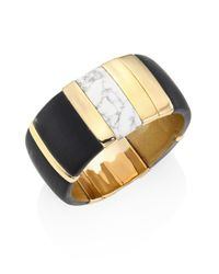 Alexis Bittar - Metallic Lucite Liquid Visage Large Colorblock Cuff Bracelet - Lyst
