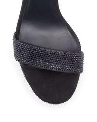 Rene Caovilla - Black Swarovski Platform Sandals - Lyst