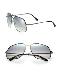 Tom Ford | Metallic Ronnie 60mm Metal Navigator Sunglasses for Men | Lyst