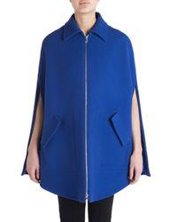 Emilio Pucci | Blue Virgin Wool & Cashmere Cape Jacket | Lyst