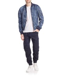 G-Star RAW Blue Bronson Hooded Liner Blazer for men