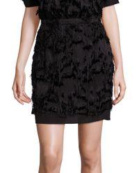Carven | Black Fringe Skirt | Lyst