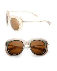 Dolce & Gabbana - Metallic 51mm Metal & Nylon Double-layer Sunglasses - Lyst