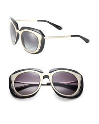 Dolce & Gabbana - Multicolor 51mm Metal & Nylon Double-layer Sunglasses - Lyst
