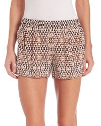 Joie - Natural Sibylle Silk Shorts - Lyst
