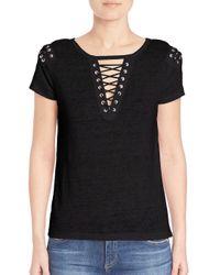 Generation Love Black Hugo Lace Up T-shirt