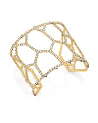 Alexis Bittar | Metallic Elements Spiked Crystal Honeycomb Cuff Bracelet | Lyst
