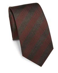 Saks Fifth Avenue | Red Herringbone Silk Tie for Men | Lyst