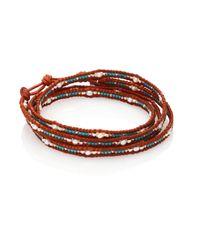 Chan Luu   Brown Japanese Seed Bead & Pearl Wrap Bracelet   Lyst