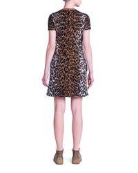 Stella McCartney Black Cheetah Jacquard Mini Dress